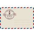 stamp mail vector image
