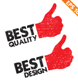 Stamp sticker best quality tag collection - vector image