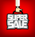 Super sale text with business hand design vector image vector image