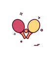 table tennis icon design vector image