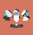 three hipsters kings-02 vector image