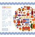 travel banner cuba havana vector image vector image