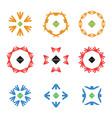 abstract arrow color icon logos set vector image