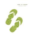 abstract green natural texture flip flops vector image vector image
