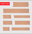adhesive tape pieces set transparent vector image vector image