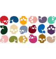 background skull color vector image vector image