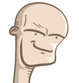 bald man vector image vector image