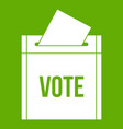 ballot box icon green