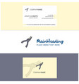 beautiful cutter logo and business card vertical vector image vector image