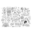 beautiful hand drawn do yoga vector image vector image