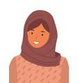 beautiful muslim woman wearing hijab fashion vector image