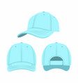 blue baseball cap vector image vector image
