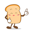 Bread 09 Isolated happy smile point finger Slice vector image vector image
