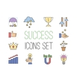 Business success icons set vector image vector image