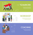 businesspeople teamwork infographics template vector image vector image
