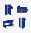 cape verde flag stickers and labels vector image