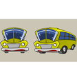 Cartoon Character Yellow Bus in different angles vector image vector image