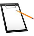 Clipboard with pencil vector image vector image