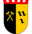 coat of arms of gladbeck in north vector image vector image