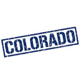 Colorado blue square stamp vector image vector image