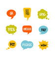 colorful speech bubbles with short message vector image