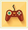 Computer Video Game Controller Joystick Flat Icon vector image vector image