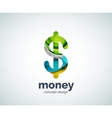 dollar logo template vector image vector image