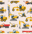 excavator for construction digger or vector image vector image