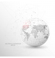 globe world map shape digitally drawn low poly vector image vector image