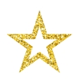 gold star on white vector image vector image