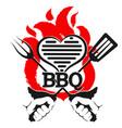 grill symbol design vector image vector image