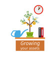 growing your assets business concept vector image
