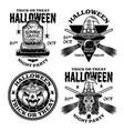 halloween set emblems labels badges vector image