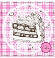 Hand drawn Cake vector image vector image