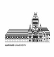 harvard university icon vector image vector image