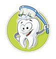 Healthy tooth with dental brush vector image vector image
