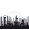 internet signal city concept vector image