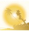 island grunge vector image