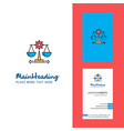 justice creative logo and business card vertical vector image