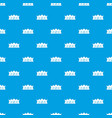 king crown pattern seamless blue vector image vector image