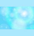 light blue bokeh abstract background vector image vector image
