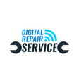 logo template for repair service digital vector image