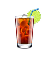 Long island cocktail isolated on white vector image vector image
