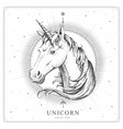 magic witchcraft card with unicorn zodiac sign vector image
