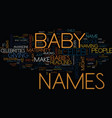 maternity celeb baby names text background word vector image vector image