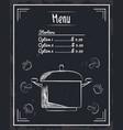 menu restaurant items vector image vector image