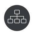 Monochrome round scheme icon vector image vector image