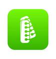 nail foot tool separator icon green vector image