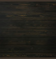old timber wood wall floor stained black vector image