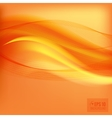 Orange smooth light lines background vector image vector image